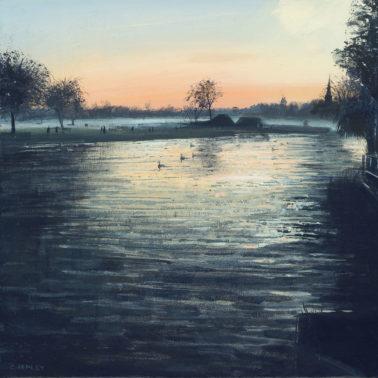 Winter sunset stratford