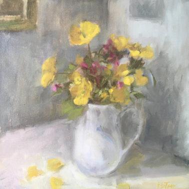 helen_tarr-YellowandPinkWildflowersinaWhiteJug